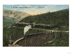 Coeur d' Alene Northern Pacific Railway - S Bridge by Lantern Press