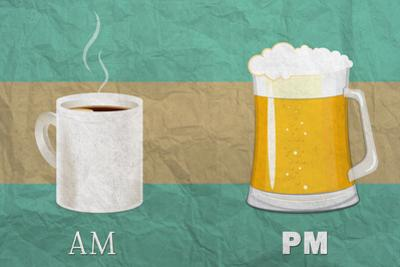 Coffee in the AM, Beer in the PM by Lantern Press
