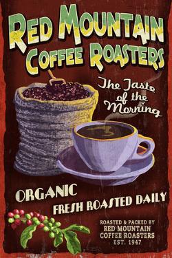 Coffee Roasters - Vintage Sign by Lantern Press