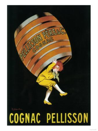Cognac Pellisson Promotional Poster - France by Lantern Press