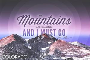 Colorado - John Muir - the Mountains are Calling - Sunset - Circle by Lantern Press