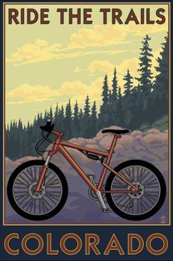 Colorado - Mountain Bike Scene by Lantern Press