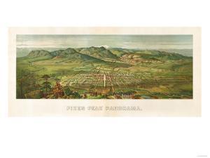 Colorado - Panoramic Map of Colorado Springs No. 2 by Lantern Press