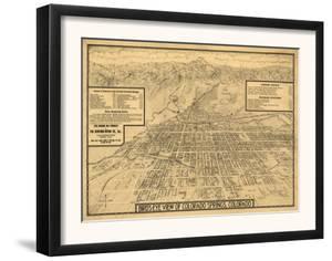 Colorado - Panoramic Map of Colorado Springs No. 3 by Lantern Press