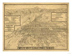 Affordable Maps of Colorado Springs, CO Posters for sale at ...