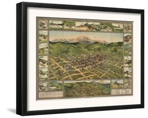 Colorado - Panoramic Map of Cripple Creek No. 2 by Lantern Press