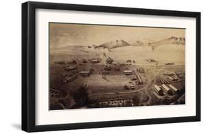 Colorado - Panoramic Map of Fort Collins No. 1 by Lantern Press