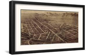 Colorado - Panoramic Map of Fort Collins No. 2 by Lantern Press
