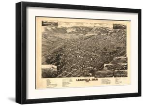 Colorado - Panoramic Map of Leadville No. 2 by Lantern Press
