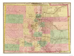 Colorado - Panoramic Map by Lantern Press