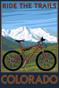 Colorado - Ride the Trails - Mountain Bike by Lantern Press