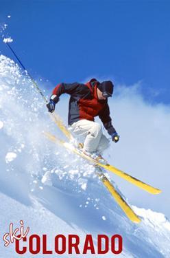Colorado - Skier by Lantern Press
