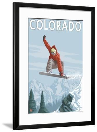 Colorado, Snowboarder Jumping by Lantern Press
