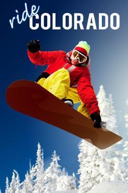Colorado - Snowboarder by Lantern Press