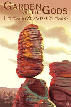Colorado Springs, Colorado - Garden of the Gods, Balanced Rock by Lantern Press
