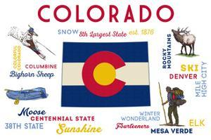 Colorado - Typography and Icons by Lantern Press