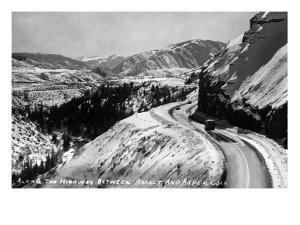 Colorado - View along Highway between Basalt and Aspen by Lantern Press