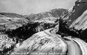 Colorado - View along Highway between Basalt and Aspen by Lantern Press