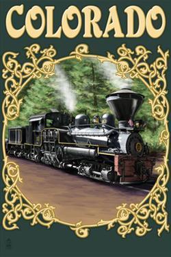 Colordao - Railroad Locomotive by Lantern Press