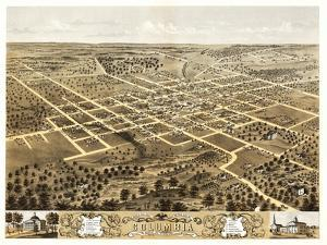 Columbia, Missouri - Panoramic Map by Lantern Press
