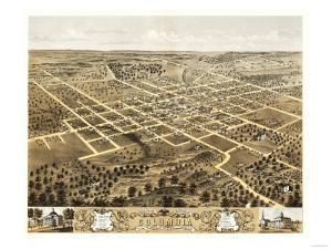 Columbia, Missouri - Panoramic Map by Lantern Press