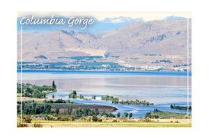 Columbia River and Cascades by Lantern Press
