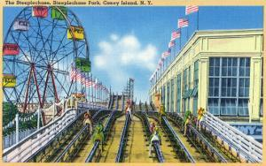 Coney Island, New York - Steeplechase Park View of the Ride by Lantern Press