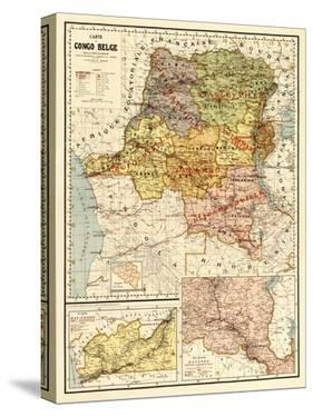Congo - Panoramic Map by Lantern Press