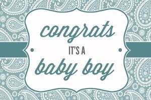 Congrats - it's a Baby Boy by Lantern Press