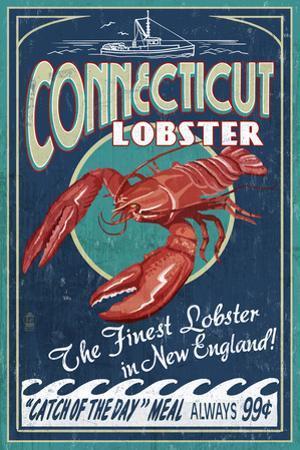 Connecticut - Lobster Shack Vintage Sign
