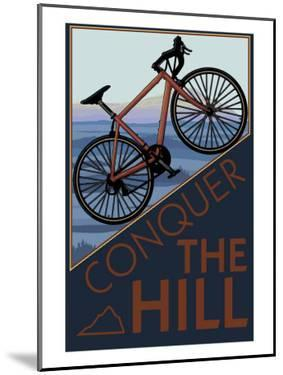 Conquer the Hill - Mountain Bike by Lantern Press
