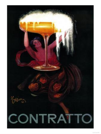 Contratto Vintage Poster - Europe by Lantern Press