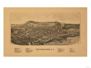 Cooperstown, New York - Panoramic Map by Lantern Press