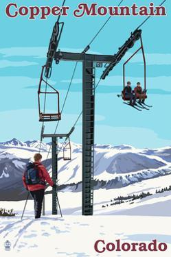 Copper Mountain, Colorado - Ski Lift Day Scene by Lantern Press