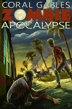 Coral Gables, Florida - Zombie Apocalypse by Lantern Press
