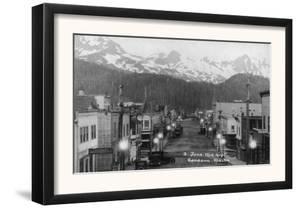 Cordova, Alaska - A June Midnight View of the City by Lantern Press