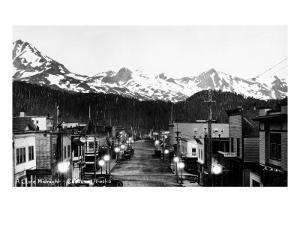 Cordova, Alaska - June Midnight Scene by Lantern Press