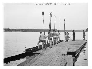 Cornell University Rowing Crew Team Photograph - Ithaca, NY by Lantern Press