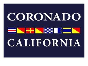 Coronado, California - Nautical Flags by Lantern Press