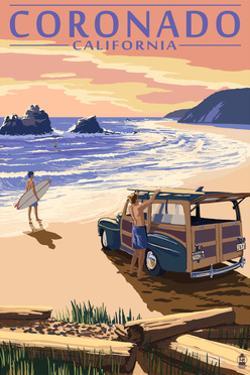 Coronado, California - Woody on the Beach by Lantern Press