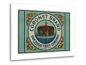 Coronet Lemon Label - Chula Vista, CA by Lantern Press