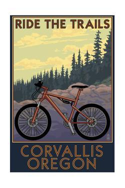 Corvallis, Oregon - Bicycle Ride the Trails by Lantern Press