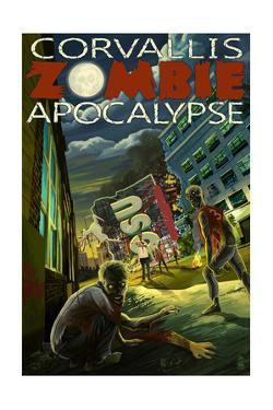 Corvallis, Oregon - Zombie Apocalypse by Lantern Press