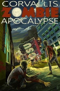 Corvallis, Oregon - Zombie Apocalypse by Lantern Press