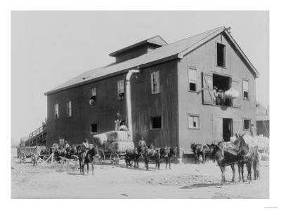 Cotton Gin in Dahomey Mississippi Photograph - Dahomey, MS by Lantern Press