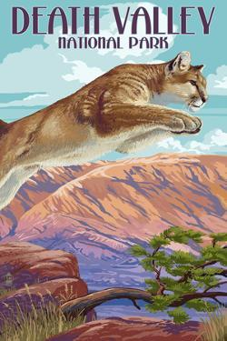 Cougar Scene - Death Valley National Park by Lantern Press