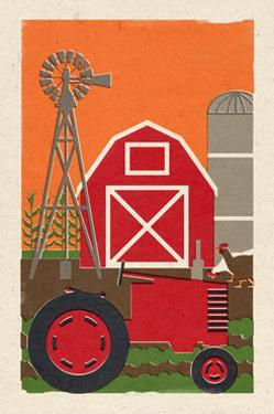 Country - Woodblock by Lantern Press