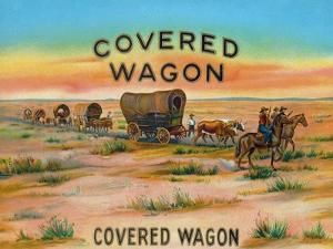 Covered Wagon Brand Cigar Box Label by Lantern Press