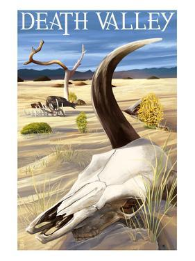 Cow Skull - Death Valley National Park by Lantern Press