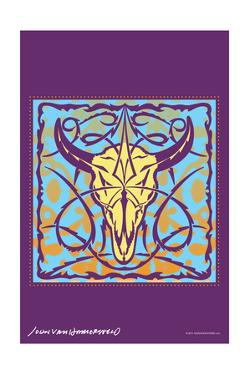 Cow Skull - John Van Hamersveld Poster Artwork by Lantern Press